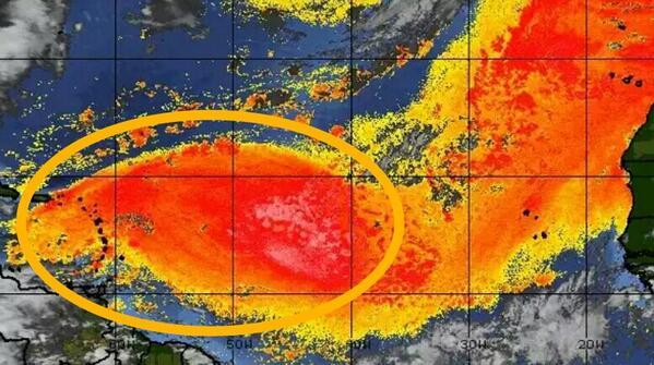 RT @LuisGarciaRD: #ATENCIÓN Polvo del desierto del Sahara, África, que llegará mañana a PR y RD, durará hasta el miércoles. @CDN37 http://t.co/hpS2x7BwHr