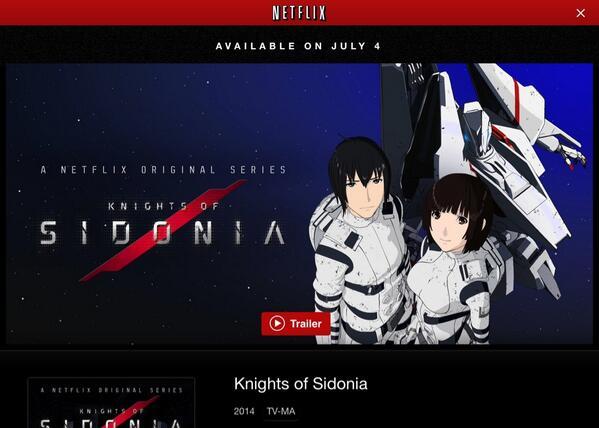 NETFLIXに「シドニアの騎士」のトレイラーがアップされた。日本語・英語・スペイン語、それぞれの声優バージョンが聴き比べられる!いよいよ7月4日から世界40カ国以上に配信(日本では観れません)。#SIDONIA_anime http://t.co/MAddXE8iOi