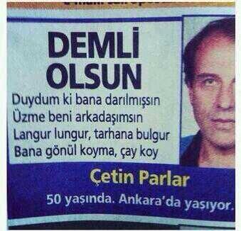 50 yaşında Ankara'da yaşıyor. Asdfghj http://t.co/zAx5BQaEnW
