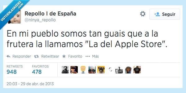 """:D """"En mi pueblo somos tan guais que a la frutera la llamamos La del Apple Store""""  MEMEces -> http://t.co/iNtQSJASxK http://t.co/e8enZvbHlg"""