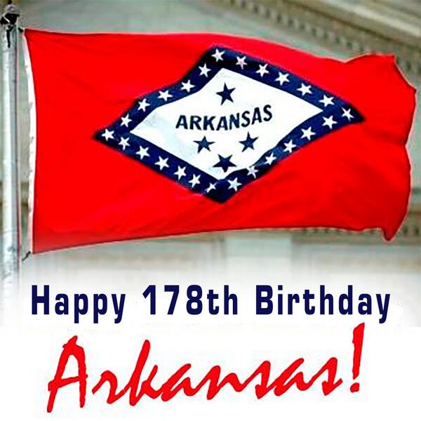 On this day in 1836, Arkansas became the 25th state. I'm proud to call it home! http://t.co/5kZIogahdY