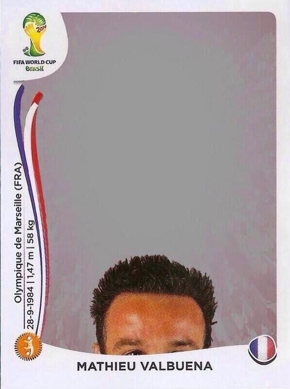 "THIS. IS. AWESOME. AHAHAHA! :=D RT @Lenzo357 RT ""@YesWeCrann: Valbuena's Panini sticker... http://t.co/4QvAhfyzCw"" #FRA #HON"