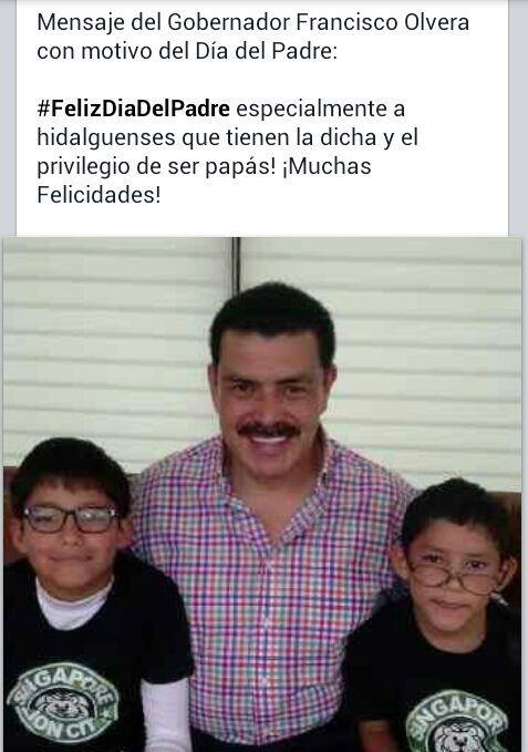 Mensaje del Gobernador @Paco_Olvera con motivo del #FelizDiaDelPadre * @gobiernohidalgo http://t.co/SAG3v0UWC6