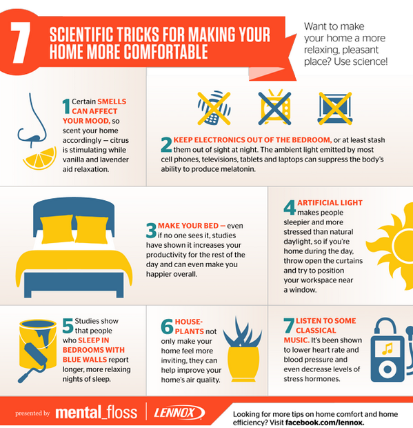 7 Scientific Tricks for Making Your Home More Comfortable (presented by @LennoxAir) http://t.co/XrwsGNsgSC