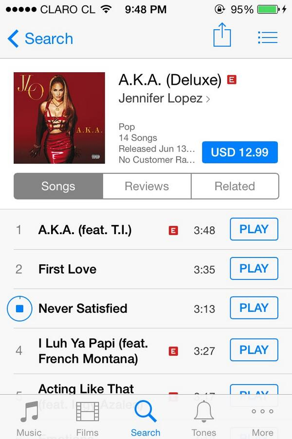 Thanks @JLo for this new album!!! I love this album!!!! #JLoAKAJune17 (#AKAOniTunes Chile  https://t.co/lxviZuzUGX ) http://t.co/tQvlK9y3AD