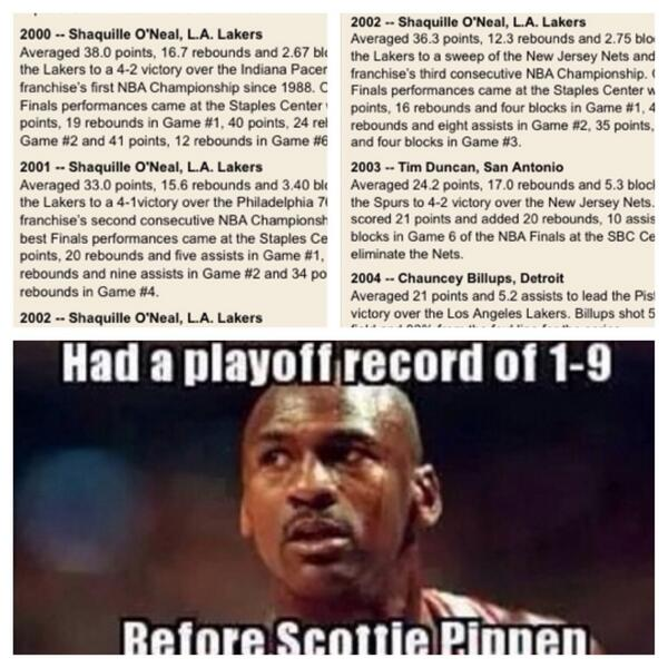 For all the youngins that THINK they know what they're talkin about & think Jordan and Kobe did it by themselves http://t.co/XLUi93ZZsD