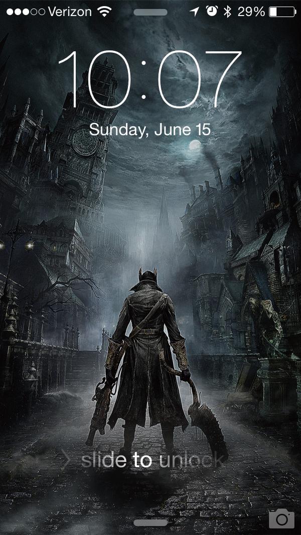 Pretttttty happy with my phone's new lock screen. #bloodborne http://t.co/ebGlE9mbB2