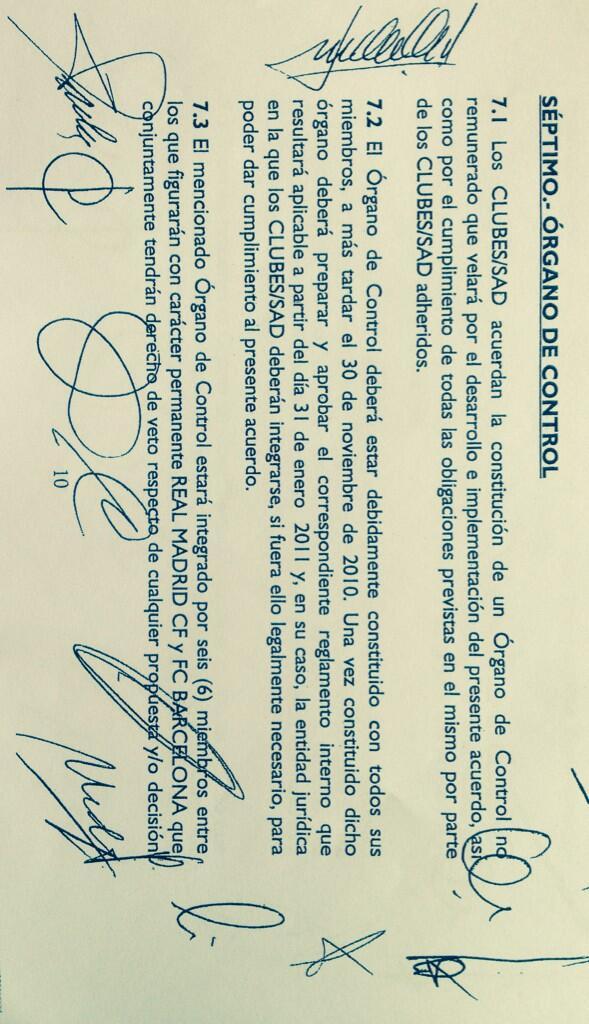 Aquí tenéis la prueba de que R.Madrid y Barça tiene derecho A VETO en los derechos audiovisuales C/c @Tebasjavier http://t.co/8EDPrFRCAd