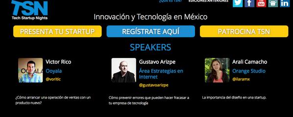 Estos son los Speakers y sus temas para @TSNmx el jueves. ¿Ya te registraste? http://t.co/K2NnD1DFVD #diseño #ventas http://t.co/4r69yPTdcp
