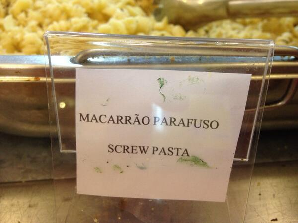 Some surprisingly anti-Italian sentiment at the press room buffet in Natal. http://t.co/3jyJQDvZIq