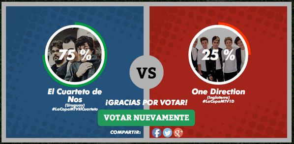 Me Río de La Plata! @cuartetodenos #URU 75% #ENG 25% #LaCopaMTV #LaCopaMTVElCuarteto http://t.co/mZZobXAzSi