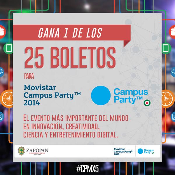 Atención Campuseros, a la 1:30pm regalaremos 25 becas para @Campuspartymx. Da RT a este tweet para participar #CPMX5 http://t.co/L9drtzXQBD