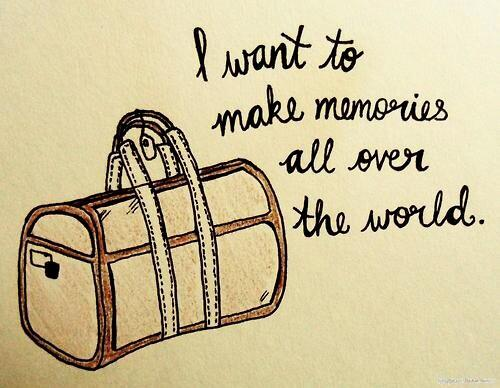 """I want to make memories all over the world"" #travelquotes #wanderlust #travelmemories #travel http://t.co/ZGal2ZPIbH"