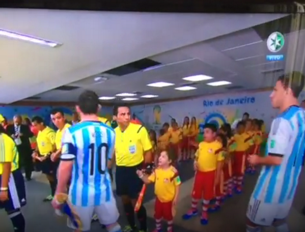 BqSKRfoCEAEX A0 The world gets confused as a picture of Lionel Messi with a young boy ISNT the snubbed kid mascot