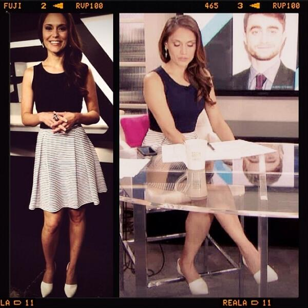 So exciting to see @arlene_santana host E! News in our contrast stripe dress! @eonline http://t.co/biGkuOIPXW http://t.co/1hyXYy0pKP