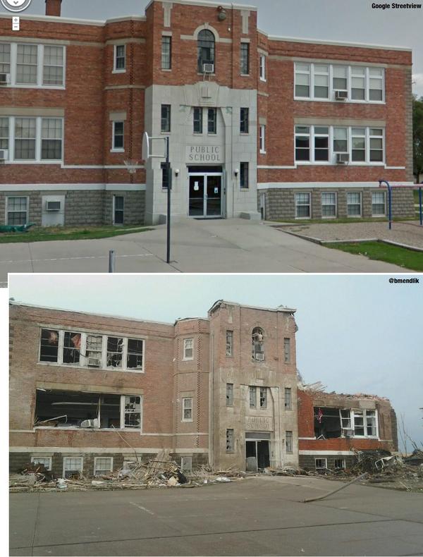 Pilger, NE #Tornado Before & After from @Bmendlik & @Google Streetview http://t.co/POteMMcBZT