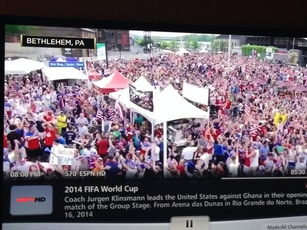 Wow. They just showed @lehighvalleypa on @espn after #USA #WorldCup victory. http://t.co/YYakcHZp47