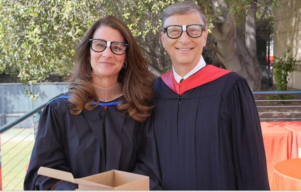 Bill Gates (@BillGates): Some people may call you a nerd. I claim the label with pride: http://t.co/mUbniIAK8w #Stanford14 http://t.co/tv9ERqOTlK