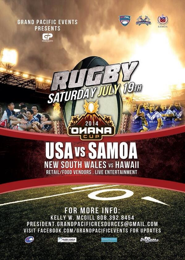 Get some in the Pacific! @USATomahawks @RLSamoa @NigelVagana @sefapaulo @HawaiiNewsNow @MikeCherry808 @RealtimeRugby http://t.co/QFvzWpVuQf