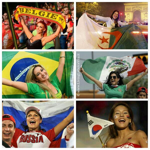 Today's #fangirl theme: wave that flag 18:00 #BEL vs #ALG 21:00 #BRA vs #MEX  0:00 #RUS vs #KOR #FIFA2014 http://t.co/vRAZdUJ455