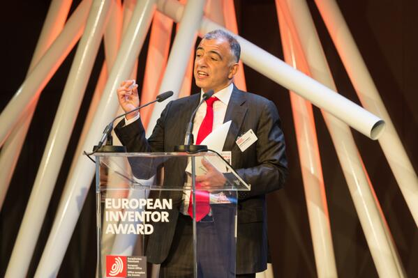 Christofer Toumazou, winner of the European Inventor Award 2014 cc @dna_electronics @imperialcollege #EIA14 http://t.co/ZXVjjrvtwR