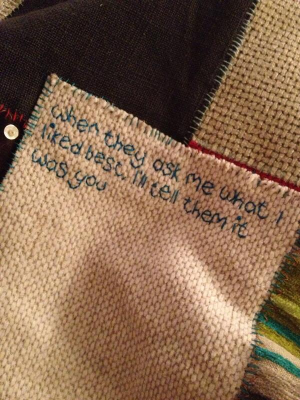 RT @Gemma_Winter: @craftsbeautiful I love sparkle and words, I tend to embroider text on to most things I make #embroidery http://t.co/yQEH7TqSzl