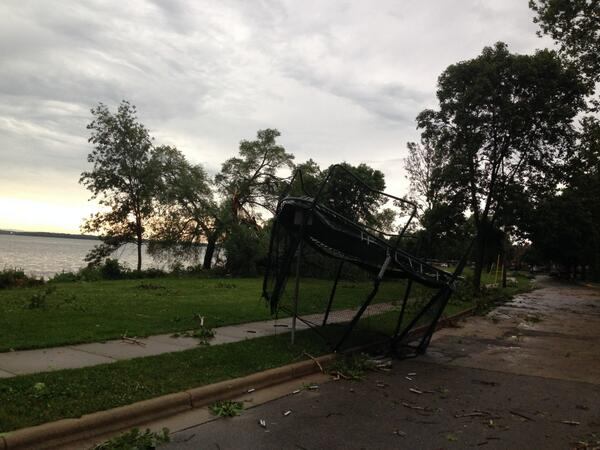 My morning walk was an obstacle course of storm destruction—smashed cars, down trees cluttering streets & sidewalks… http://t.co/WIsKVm6kyu