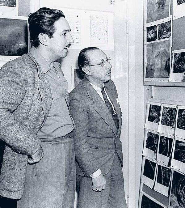 Happy Birthday Igor Stravinsky! Born this day in 1882. Here he is with Walt @Disney during production of FANTASIA. http://t.co/T9hCrTJ48f