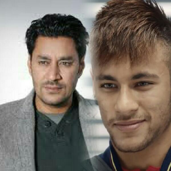 OMG! It's been bugging me & its just hit me...HARBHAJAN MANN is Brazilian footballer NEYMAR!! #twins http://t.co/anBezQXTo7