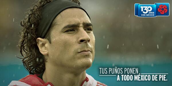 El guardián del arco, @yosoy8a, tiene un mensaje para Brasil: Aquí no pasa nada.  #SelecciónBanamex #Mex http://t.co/ouV54g8gAa
