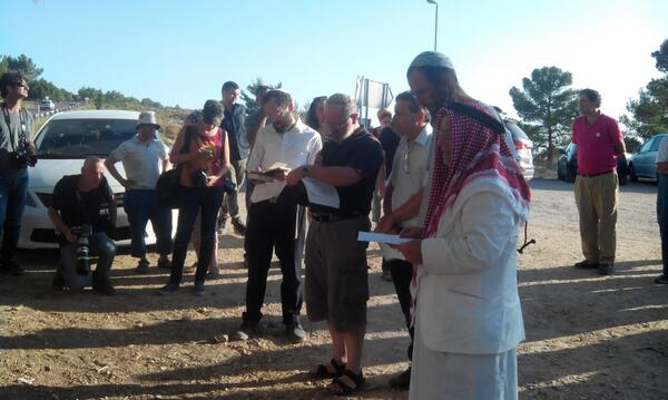 Jews & Muslims pray for the release of the kidnapped teenagers at a Tag Meir vigil today http://t.co/m8BFyfZO0l via @rhreng
