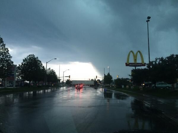 Check out this photo by @LaurieFerragine of the storm rolling into #Barrie around 5:20 p.m. http://t.co/5KKcVb5jGz http://t.co/BarGmJXf1D