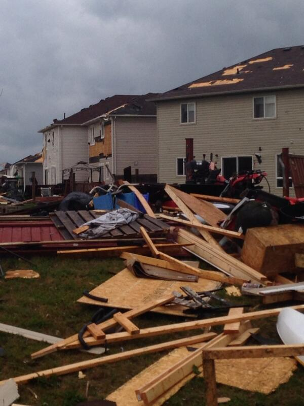 Charlsie Agro (@CBCharlsie): Extensive damage here in Angus. Walking path of the storm now. #sl http://t.co/e6KQUsXHbt