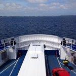 Op de ferry naar Spodsbjerg.