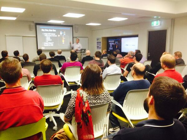 #AWSCloud meetup with @craigsdickson from @AWSCloudANZ talking #HighScalability @ http://t.co/cAPT32DyMO http://t.co/1r7dyCdyvZ