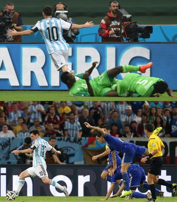 Papá, papá, ¿es verdad que vos jugaste contra Messi? ¿Tenés alguna foto? http://t.co/p8AYSQmRZ1