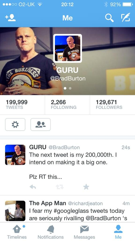 The next tweet is my 200,000th. I intend on making it a big one.  Plz RT this... http://t.co/qKysIuBGN4