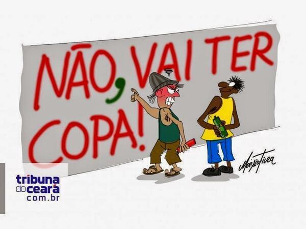 Bastou uma virgula – e a Copa se torna 1 sucesso apesar do slogan contra ;) http://t.co/atfTja2t6p