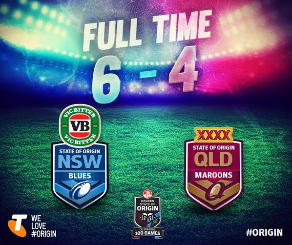 Your final score NSW. Blues 6 def. Maroons 4 #uptheblues http://t.co/8lBytaRObj
