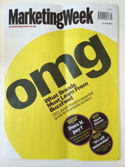 """RT @Alsypie: This was worth the wait. Thanks @larakiara @MarketingWeekEd for the copy. """"What brand must learn from @buzzfeed"""" http://t.co/TnATgWhVOJ"""