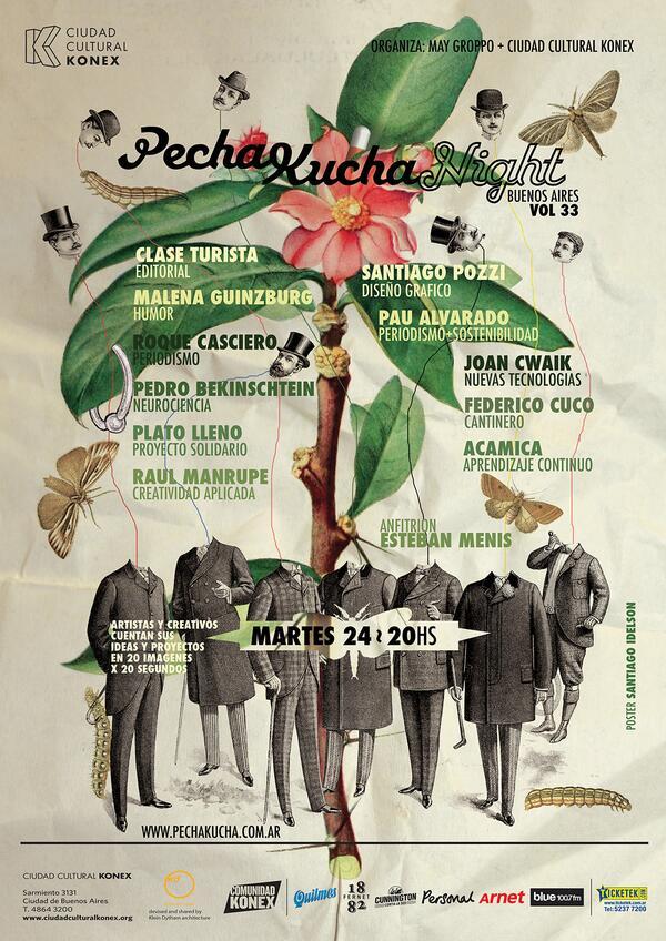Martes que viene hay PechaKucha en @CCKonex. Qué es? Charlas muy breves de distintas disciplinas. Gracias RT! #8años http://t.co/QbXSas5XRo