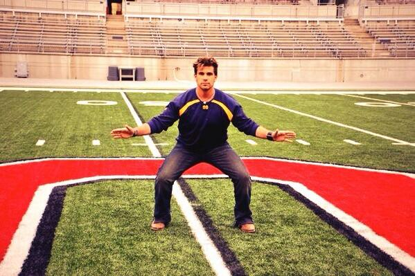 Hey @Buckeye_Nation  u thought the Tyler Green pic was awesome? Practice field isnt the real thing! #GoBlue http://t.co/xd959q6pSu