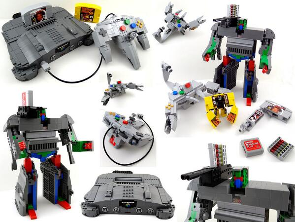 Lego N64 Transformer #nintendo #LEGO http://t.co/BdmC8Z86nE