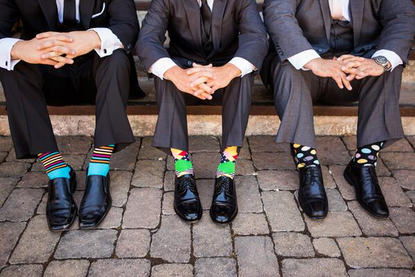 Are crazy socks the new neckties? Take a look at the newest trend in #mensfashion - http://t.co/zXJpifcnIk http://t.co/VhGg3V24MW