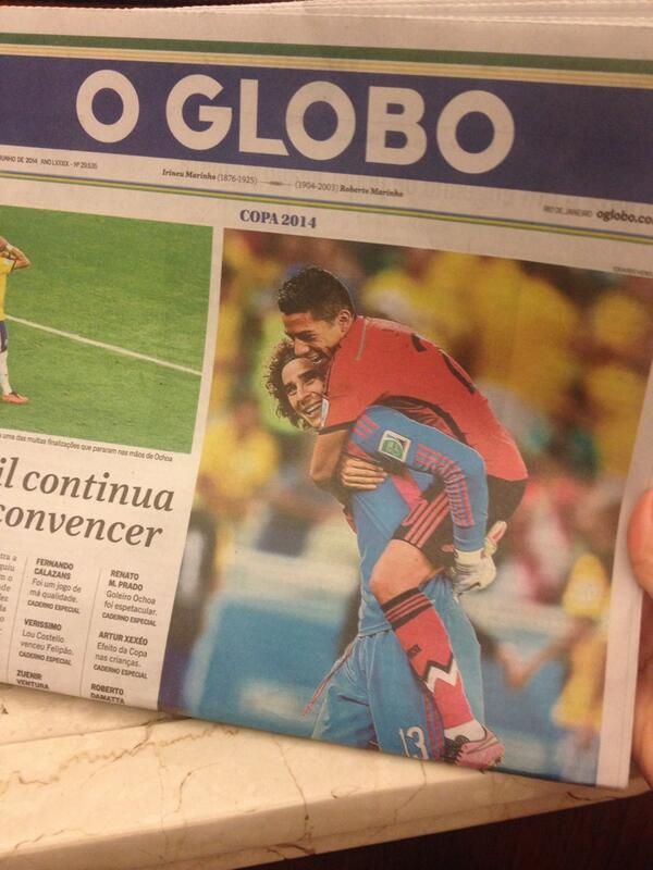 Miren que bonitos @yosoy8a y @JavierAquino7 en la portada de @JornalOGlobo http://t.co/KEzBlZqeig