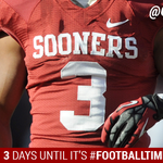 RT @OU_Football: 3, yes T-H-R-E-E, days until its #FootballTimeInOklahoma!!! http://t.co/Jvt0NhoaAN