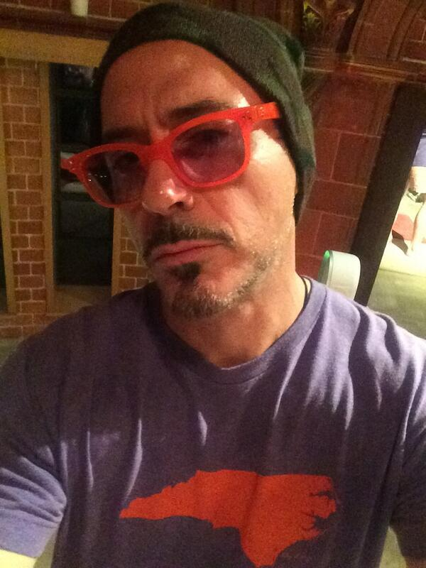 Your selfie game is strong, @RobertDowneyJr. Great shirt. http://t.co/sTAj0VWNBV