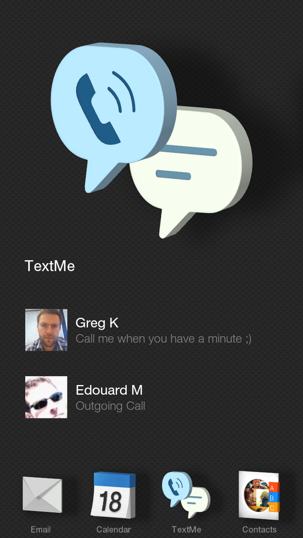 A sneak peek at the upcoming version of @textmeapp for the new Amazon #FirePhone http://t.co/0OdvWfccXp