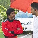 RT @narainracing: Fun shoot with Virat Kohli couple of days back, watch out for the ad when it airs soon! http://t.co/uKAYdqs363