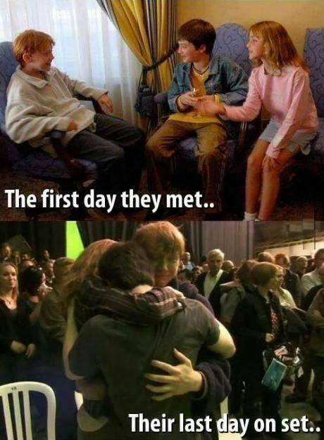 Harry Potter the first day of casting, and the last. http://t.co/UZh1rXECaK